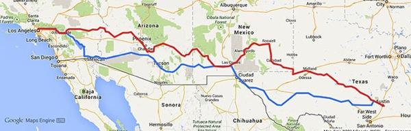 2014austin trip map